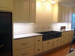 subway tile kitchen ideas modern kitchen cherry cabinets with white subway tile backsplash