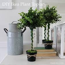 Herb Topiaries Diy Ikea Plant Topiary Tutorial