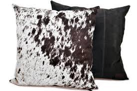 Metallic Cowhide Pillow Black And White Salt U0026 Pepper Cowhide Pillow Hugo Hides