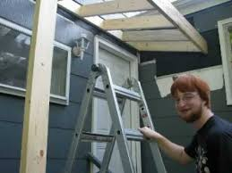 How To Make A Window Awning Frame Building A Roof Over A Stoop Youtube