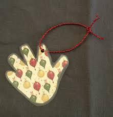 diy handprint keepsake ornament through