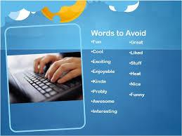 word choice word choice use u201cfresh u201d words that aren u0027t overused