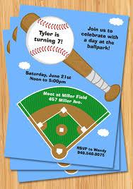 baseball birthday invitation baseball field customizable