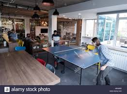 Table Tennis Meeting Table Two Start Up Business Ping Pong Tennis At Modern