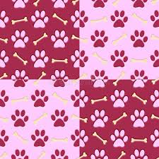 pink paw print background stock illustration image 41045901