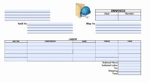printable invoice template excel printable invoice pdf inspirational template free general labor