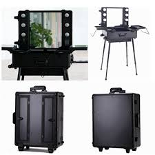 makeup artist box makeup trolley box cosmetic 6 bulbs lights studio