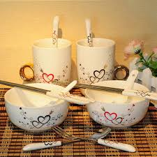 wedding gifts for couples ceramic bowl chopsticks spoon tableware set gift for