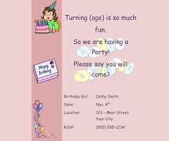 free email birthday party invitation templates birthday invitation