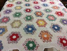 grandmothers flower garden quilt ebay