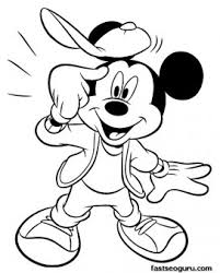 coloring pages mickey mouse happy face printable coloring pages