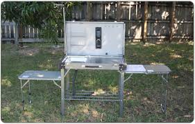 Camping Kitchens With Sinks - Oztrail camp kitchen deluxe with sink