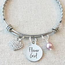 flower girl charm bracelet flower girl charm bracelet gift for flower girl