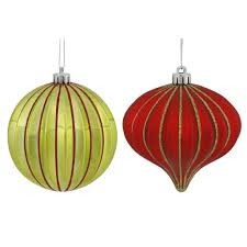 buy the 9ct glitter striped 4 shatterproof ornaments