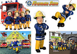 fireman sam lot iron shirt fabric transfer sticker wall