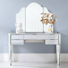 Vanity Table With Tri Fold Mirror Vintage Tri Fold Wall Hung Mirror
