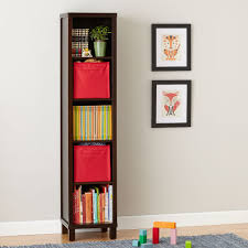 shop 5 cube tall bookcase brown the five cube cubic tall