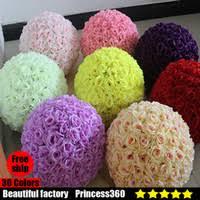 Fake Flowers In Bulk Kissing Balls Wholesale Kissing Balls Flower Balls On Sale Dhgate