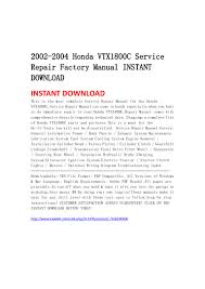 2002 2004 honda vtx1800 c service repair factory manual instant downl u2026