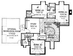european style house plan 4 beds 3 5 baths 3984 sq ft plan 310