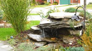 backyard waterfalls pondless outdoor furniture design and ideas