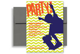skateboard party birthday invitation wording 5x7 in vertical