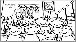 peppa pig and friends coloring book coloring pages video for kids