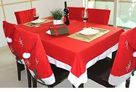 santa chair covers christmas tablecloth and santa hat chair covers for