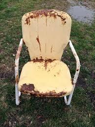 Motel Chairs Antique Metal U0027motel Chairs U0027 In The Garden Flea Market Gardening