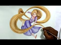 drawing disney u0027s princess rapunzel tangled speed paint