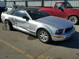 2007 ford mustang salvage certificate 2007 ford mustang converti 4 0l 6 for sale in