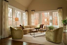 reflecting the outdoors indoor with earth tone sunroom decor