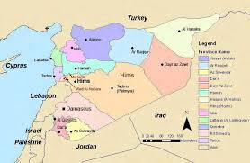 map of syria 1 map of syria and neighboring countries