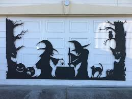 garage door covers style your garage halloween garage door silhouette 6 steps with pictures