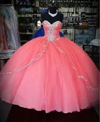 coral quince dresses coral beaded quinceanera dresses for 15 years wedding prom