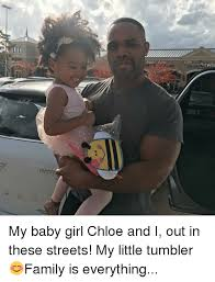 Chloe Little Girl Meme - little tan my baby girl chloe and i out in these streets my