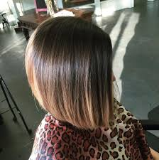 brown and blonde ombre with a line hair cut 22 popular angled bob haircuts you ll want to copy hairstyles weekly