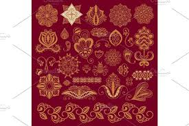 henna tattoo brown mehndi flower doodle ornamental decorative