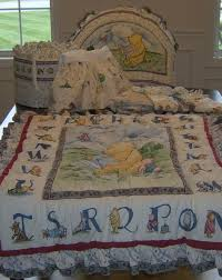 disney classic winnie the pooh crib bedding red calliope