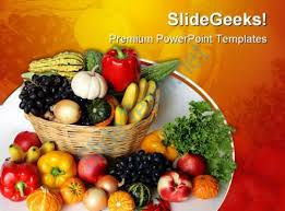 fruit and vegetable basket fruits vegetables basket food powerpoint templates and powerpoint