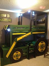 Wood Bunk Bed Plans by Ana White John Deere Tractor Bunk Bed Diy Projects