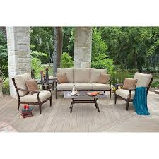 Costco Outdoor Furniture Sale by Siena 5 Piece Seating Set By Woodard