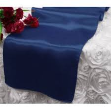 Navy Blue Table Runner Satin Table Runners