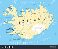 Iceland World Map Iceland Political Map Capital Reykjavik National Stock Vector