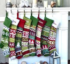 fair isle knitted christmas stockings