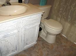 Simply Shabby Chic Vanity by Decor Traditional Shabby Chic Bathroom With Distressed White Wood