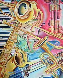 themed artwork instrumental by rick borstelman abstract musical painting