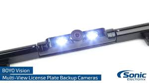 boyo vision license plate frame style back up cameras