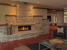 everyday solutions stone fireplaces wood accents add craftsman