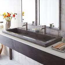 Bathroom Trough Sink | native trails trough stone 48 trough bathroom sink reviews